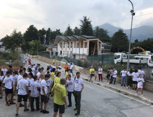Ad Amatrice la festa di fine lavori di costruzione della Casa della Montagna