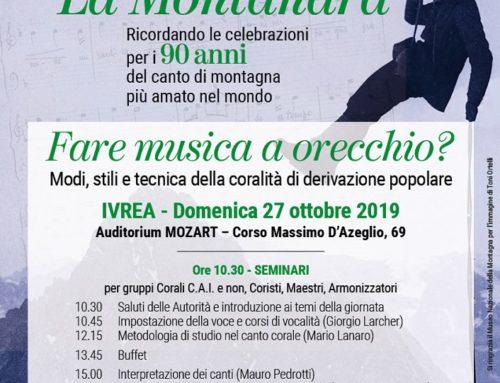 Un convegno per valorizzare la tradizione dei cori Cai di Lombardia e Piemonte