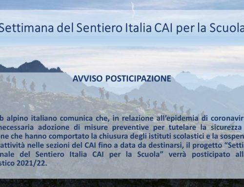 CAI-Scuola: rinviati i due progetti nazionali su Sentiero Italia e contrasto al bullismo