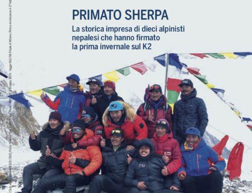 """Il primato Sherpa sul K2 e lo """"sci come una volta"""" protagonisti della rivista del Cai"""